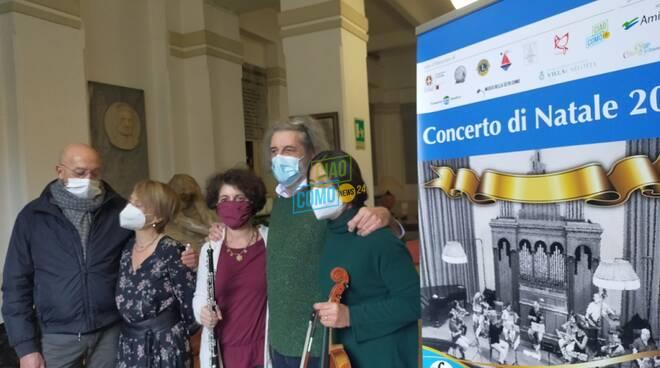 presentazione concerto di natale 2020 orchestra franz terraneo al carducci como