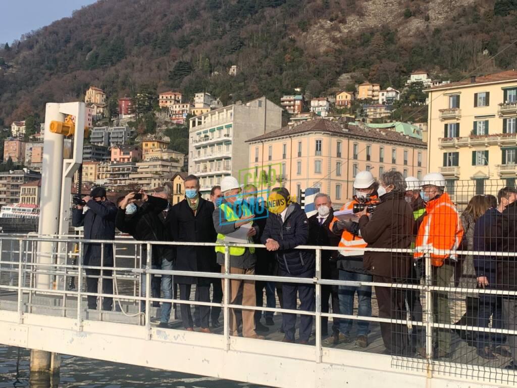 presidente fontana in tour a como cantiere paratie e tabu cantù