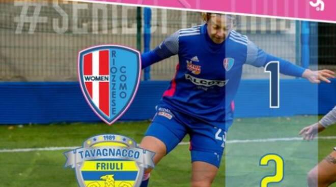riozzese como sconfitta in casa contro Tavagnacco calcio donne b