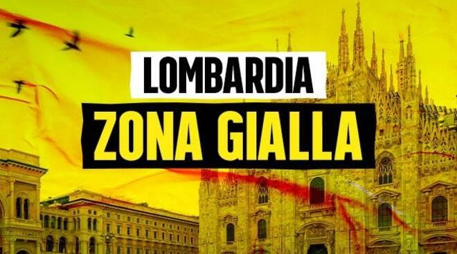 zona gialla lombardia logo ufficiale e cartina su indicazioni