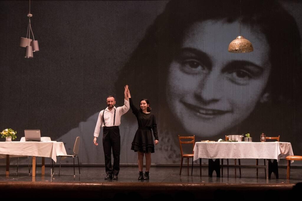 Colisseum spettacolo in streaming su Anna Frank per giornata della memoria