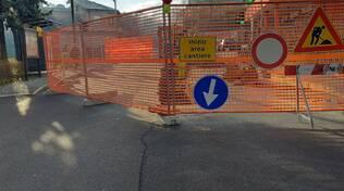 lavori via muggiò strada chiusa e traffico via turati camion