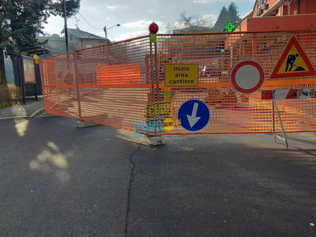 lavori via muggiò strada chiusa e traffico via turati camion diretta arancione