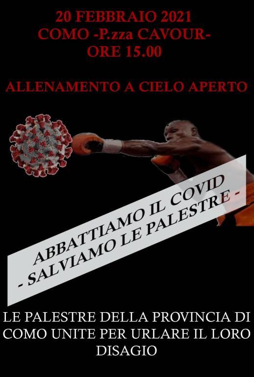 Palestre chiuse manifestazione piazza Cavour sabato 20 febbraio
