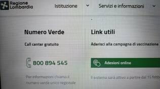 portale regione lombardia òper raccogliere prenotazioni vaccino anti covid