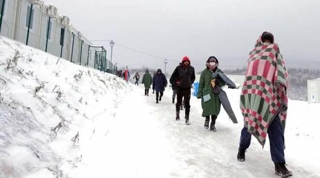 profughi bosnia al freddo e gelo