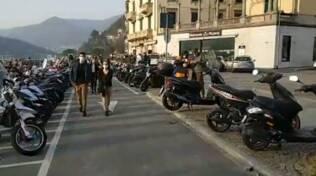 traffico strade di como e chiusura di viale geno con polizia locale