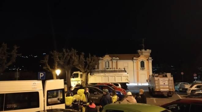 blevio senza acqua rottura tubo luogo incidente mezzi protezione civile