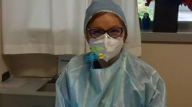 carmelina di lella, coordinatore infermieri di como al sant'anna un anno di covid