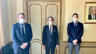 deputatio zoffili e molteni della lega incontrano ambasciatore tedesco per crisi henkel lomazzo