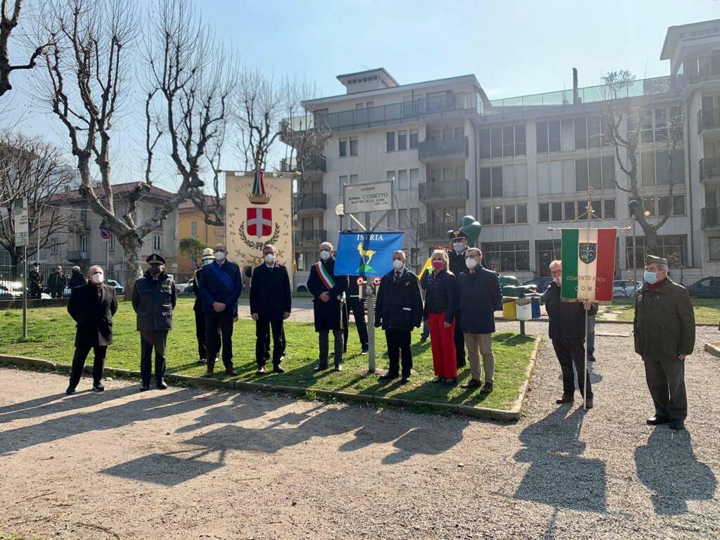 intitolazione parco piazza popolo como a studentessa uccisa nelle foibe