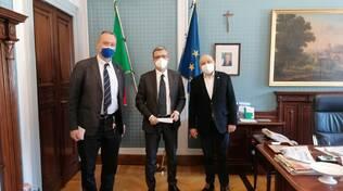 presidente confesercenti casartelli oggi dal Prefetto di Como per la manifestazione di domani porta torre