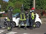 incidente auto e moto casate soccorsi pompieri e 118