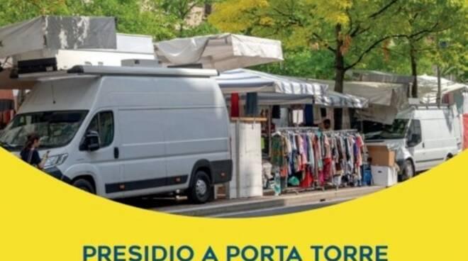 locandina confcommercio como protesta domani mercato ambulanti per ripartire