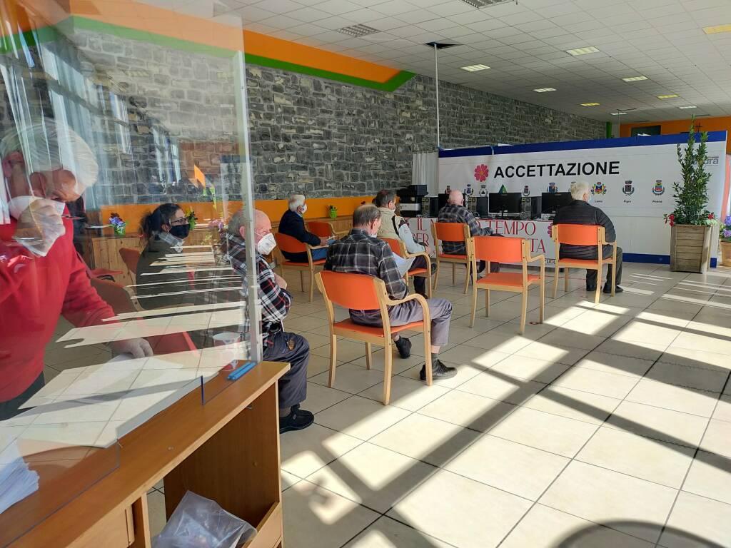 Secondo giorno vaccinazioni over 80 hub centro valle Intelvi