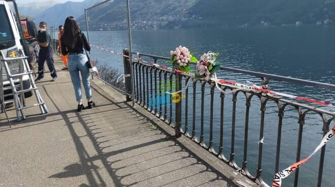via per cernobbio sostituzione ringiera danneggiata incidente giugno 20 morta tatiana