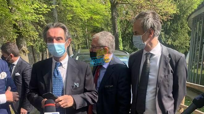 visita presidente fontana villa erba cernobbio hub vaccini con fermi