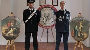 carabinieri tutela patrimonio dipinti trovati in villa e rubati lurago marinone