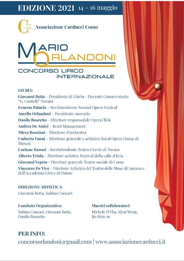Concorso lirico Orlandoni Associazione Giosué Carducci Como