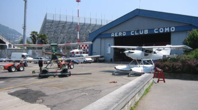 Aero Club Como processione Madonna del Lago Cessna