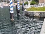 livello lago di como questo pomeriggio sul lungolagio e passeggiata