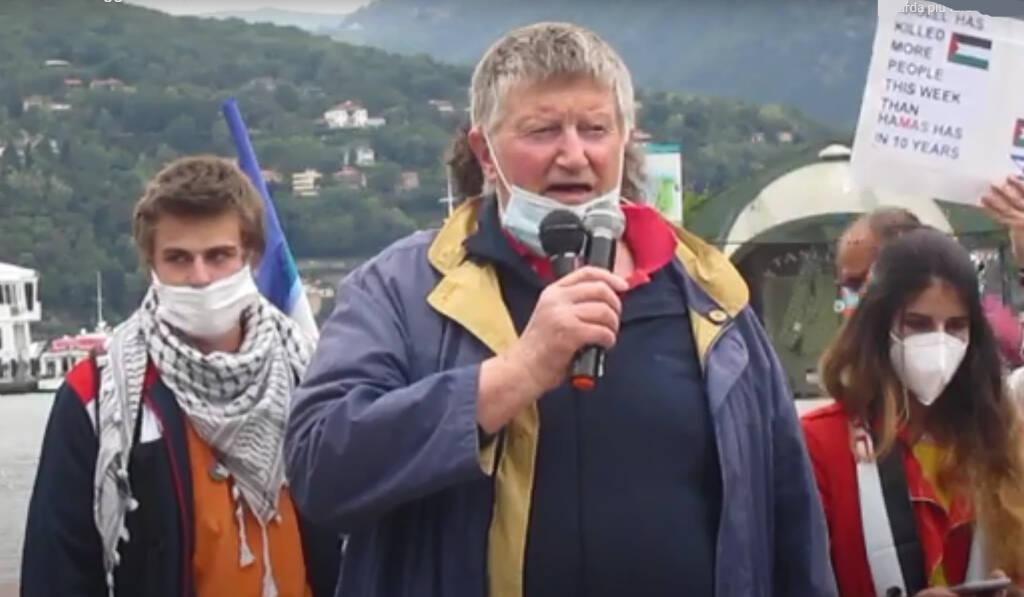 Luigino Nessi manifestazione Pace in Palestina