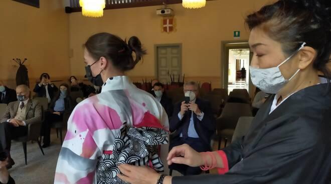 Presentati gli Yukata degli alunni del Setificio: Como e Tokamachi piu' vicine