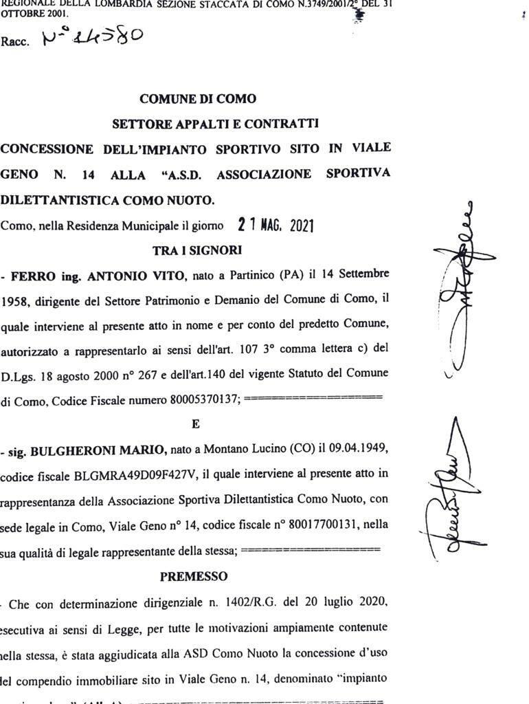 presidente bulgheroni mostra contratto per sede di viale geno ancora per loro
