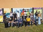 ragazzi liceo melotti lomazzo murales contro i vandali palestra scuola