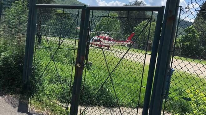 ricerche sagnino ragazzo di busto arsizio scomparso da casa boschi ed elicottero,