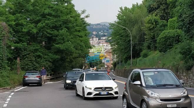 caos sulel strade di ponte chiasso e monte olimpino lavori sulla a9