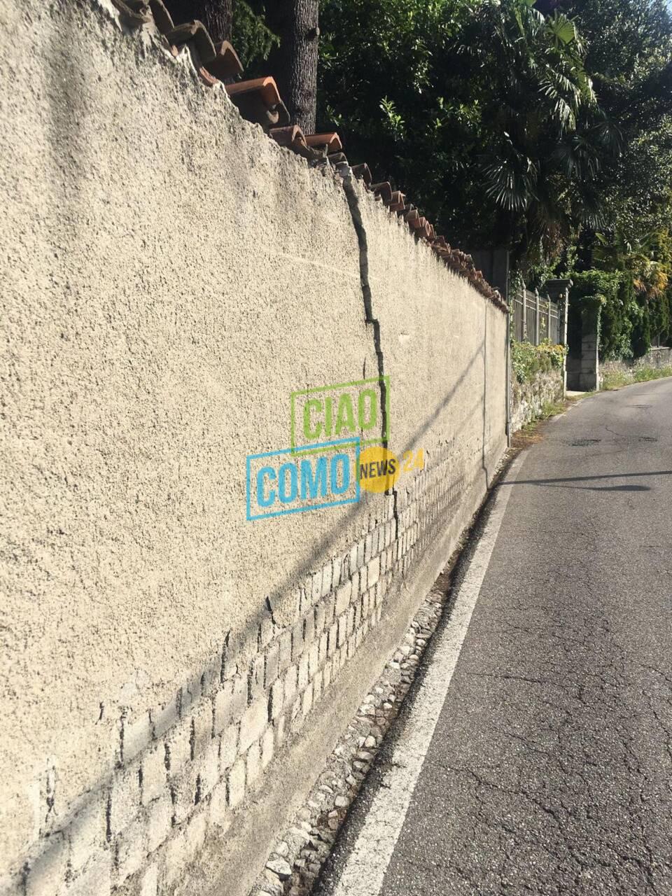 crepe sui muri abitazione davanti a villa aprica zona cardina
