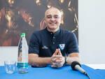 marco sodini allenatore pallacanestro cantù presentazione alla stampa