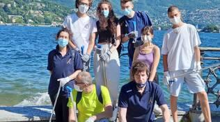 per como pulita ed i ragazzi del Teresa Ciceri assieme per pulire la città