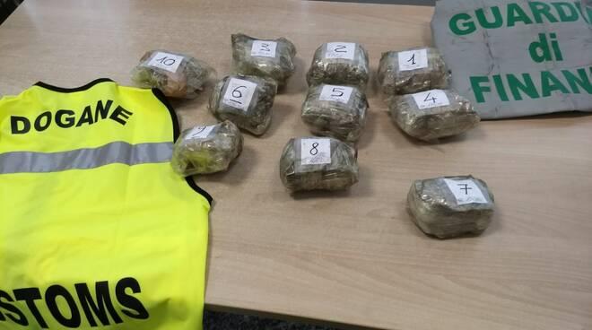 sequestro panetti marijuana valico di brogeda guardia di finanza ponte chiasso