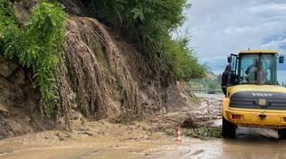 alluvione e frane, chiusa la provinciale per la Valle d'Intelvi per smottamento