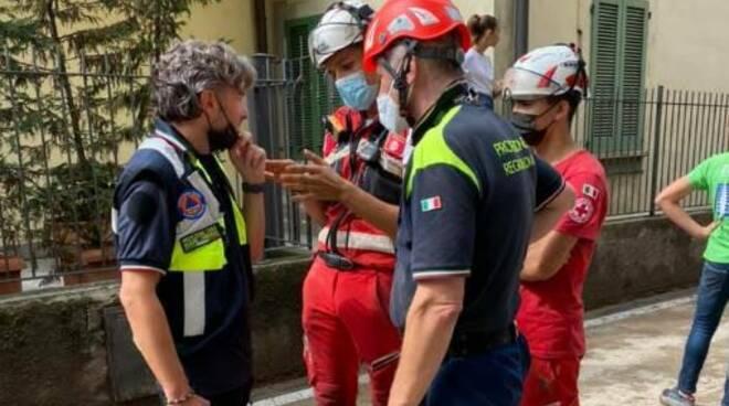 assessore regionale pietro foroni in visita ai luoghi del disastro alluvione blevio e cernobbio