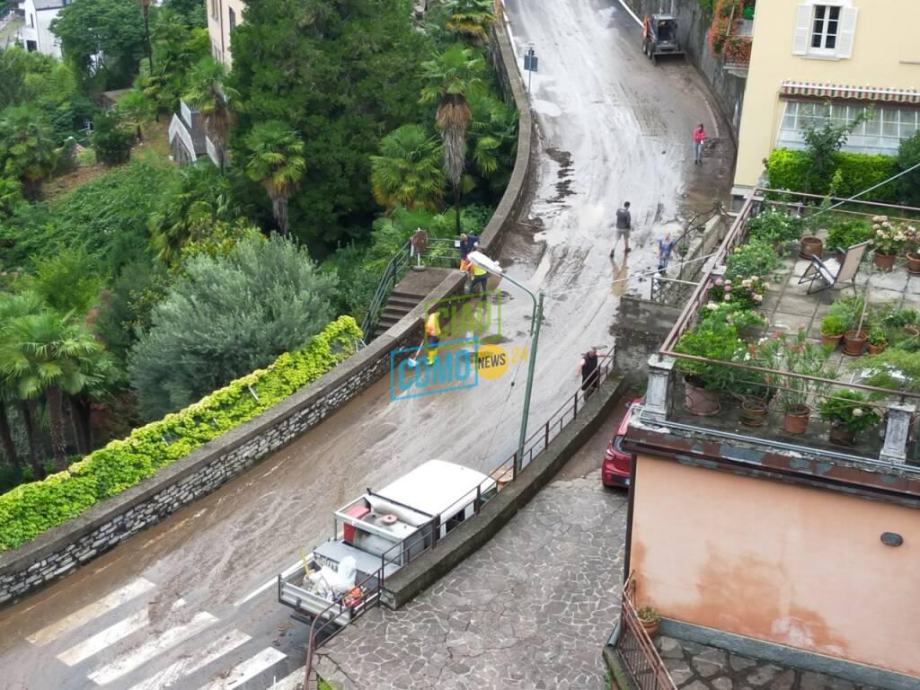 blevio devastata dal fango e dai detriti alluvione di ieri case e auto danneggiate