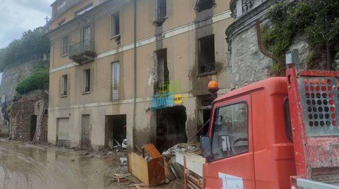casa cesare adinolfi a blevio devastata dal maltempo