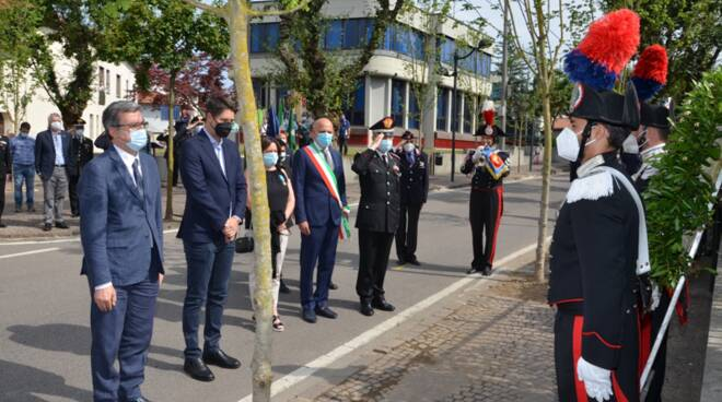 cerimonia locate varesino per ricordare maresciallo d'immè ucciso in uan sparatoria