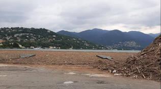 detriti lago di como luglio 2021
