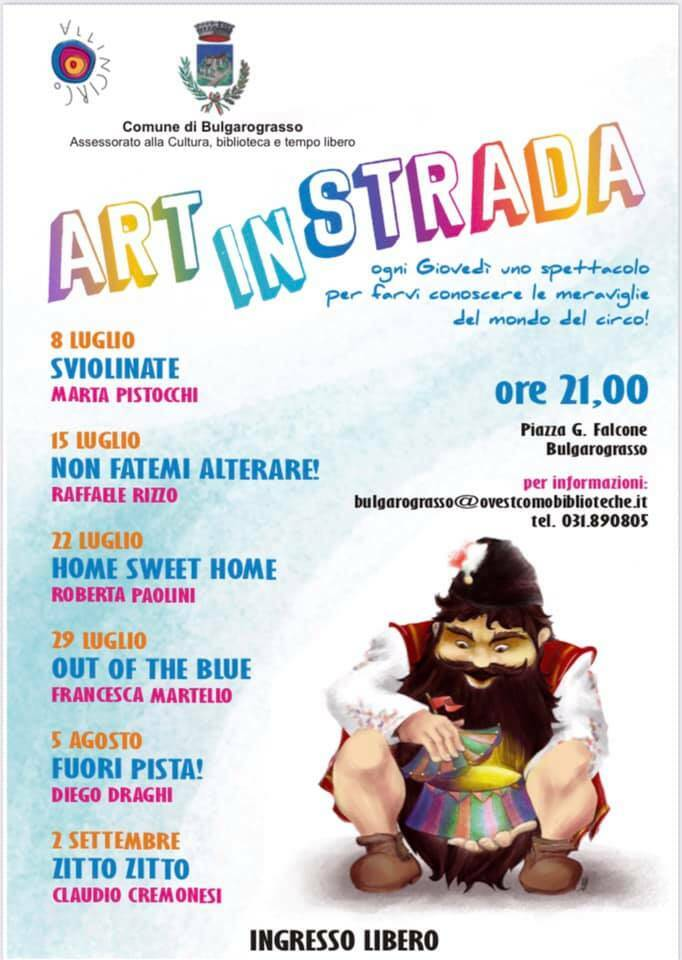 Festival ARTinSTRADA 2021 Bulgarograsso Allincirco