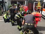incidente bici e moto via varesina a rebbio soccorsi pompieri