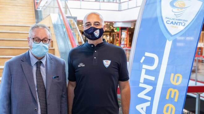 presidente allievi e allenatore sodini san bernardo cantù