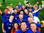sindaci di menaggio vercana e olgiate in campo partita beneficenza nazionale italiana sindaci