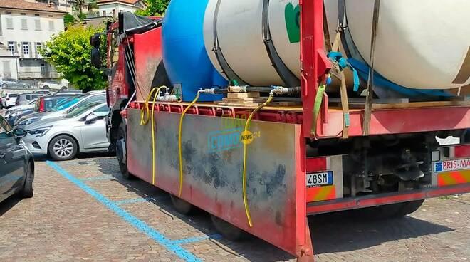 botti ad argegno petr la distribuzione di acqua potabile dopo inquinamanto pozzo