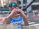 eleonora giorgi marcia olimpiadi tokyo sue immagini da raidue