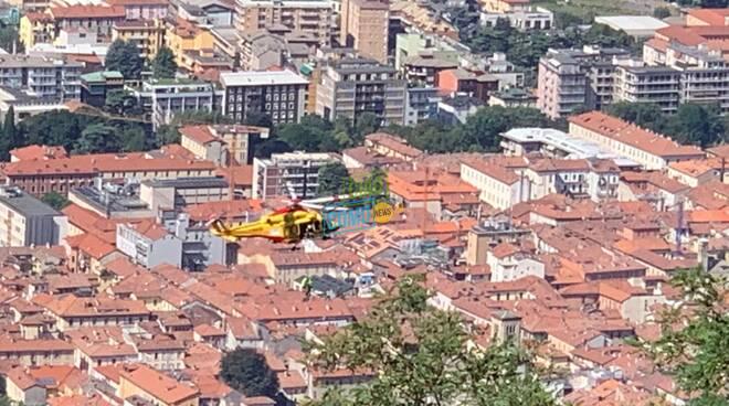 elicottero 118 intervento a garzola infortunio nei campi