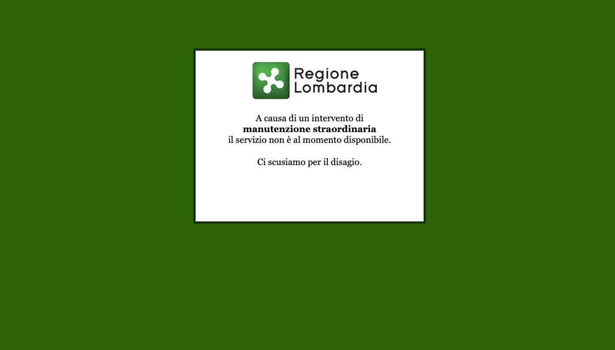 fascicolo sanitario elettronico regione lombardia sito in tilt da giorni