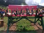 Inaugurata la panchina gigante al Monte Crocione: festa grande